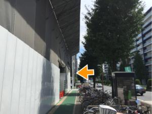 大須通を右手に見ながら最初の曲がり角を左折