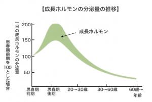 成長ホルモンの分泌量の推移